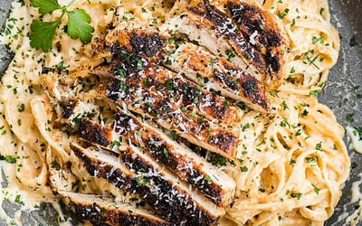 One (1) Medium Cajun Chicken Alfredo Pasta for 2 - 3 People with Delivery and Takeaway Option