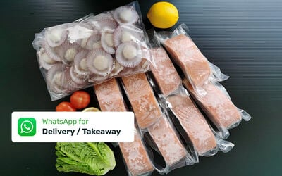 Free Delivery: DS 10 Seafood Package (Salmon, Scallops)