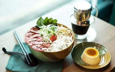3-Course Vietnamese Meal with Drink and Dessert for 1 Person