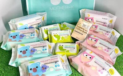 [Fave Exclusive] Hygiene First! 12-Pack K-Mom Natural Wet Wipes Bundle and One (1) Box Cotton Buds with Free Delivery
