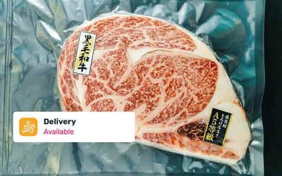 Free Delivery: Two (2) 300g Japanese A5 Wagyu Rib Eye Steak