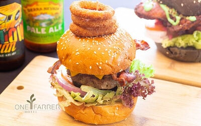 One (1) The Hangover Burger