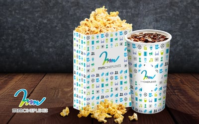 mmCineplexes: One (1) Regular Popcorn and 22oz Soft Drink Combo Set