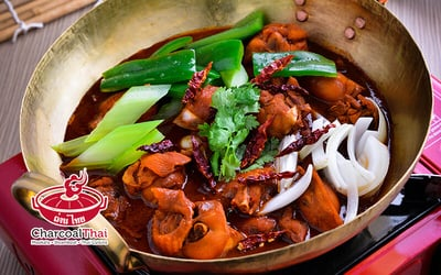 Thai Chicken Hot Pot Set with Rice for 2 People