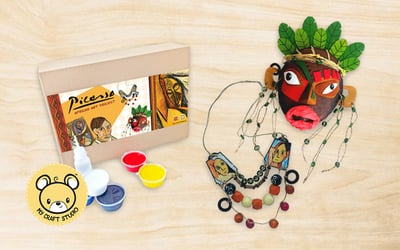 West Malaysia: 1.5-Hour Art and Craft: Picasso's African Project for 1 Child (2 Sessions)