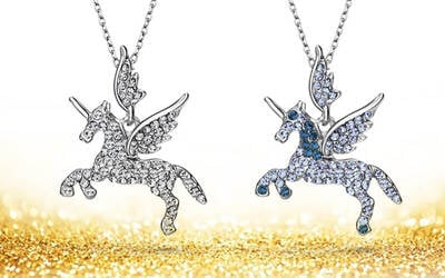 Free Delivery: One (1) Swarovski Crystals Unicorn Necklace