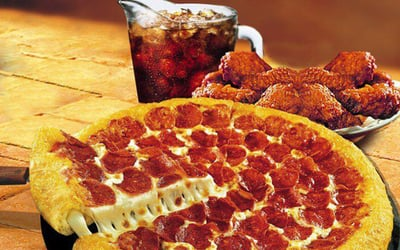 One (1) Pizza with Drinks and Sides for 2 - 3 People