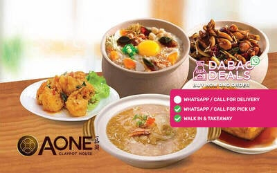 [Flash] A-One Claypot House: $98 Cash Voucher for Asian Cuisine with Takeaway