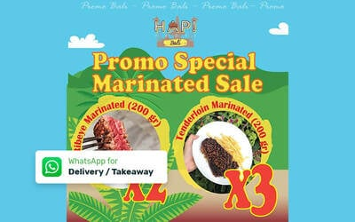 [Bali] Promo Special Marinated Sale - Delivery & Take Away