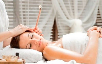 Ear Candling + LHE Anti-Ageing Therapy + Face Contouring Treatment for 1 Person