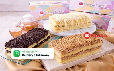 2 Japanese Sponge Cake - Take Away & Delivery
