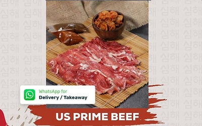 Paket Korean 2: Simhae US Prime Beef 600 gr + Kimchi 100 gr + 2 Kind of Sauce - Delivery & Take Away