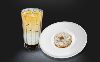 Breakfast Menu: Donut Classic with Brown Sugar Coffee - Dine in