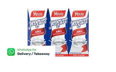 Six (6) 250ml Yeo's Yeogurt Original with Delivery Option