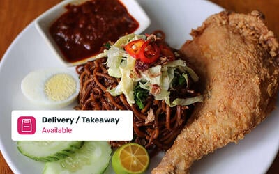 Nasi Lemak Ayam Goreng Set for 4 People with Delivery