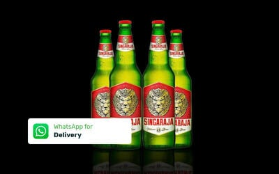 4 Bottles Singaraja Beer 330 ml - Delivery