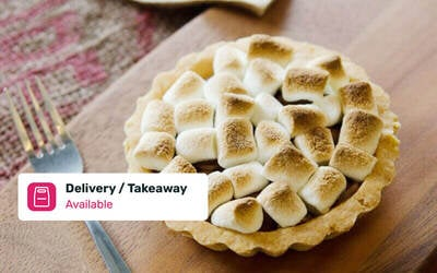 Sweet Pie with Coffee or Tea for 1 Person